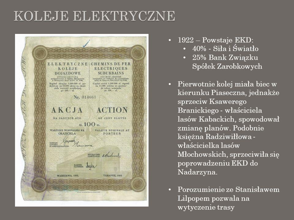 Koleje elektryczne 1922 – Powstaje EKD: 40% - Siła i Światło