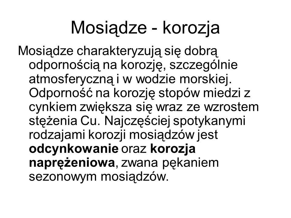 Mosiądze - korozja