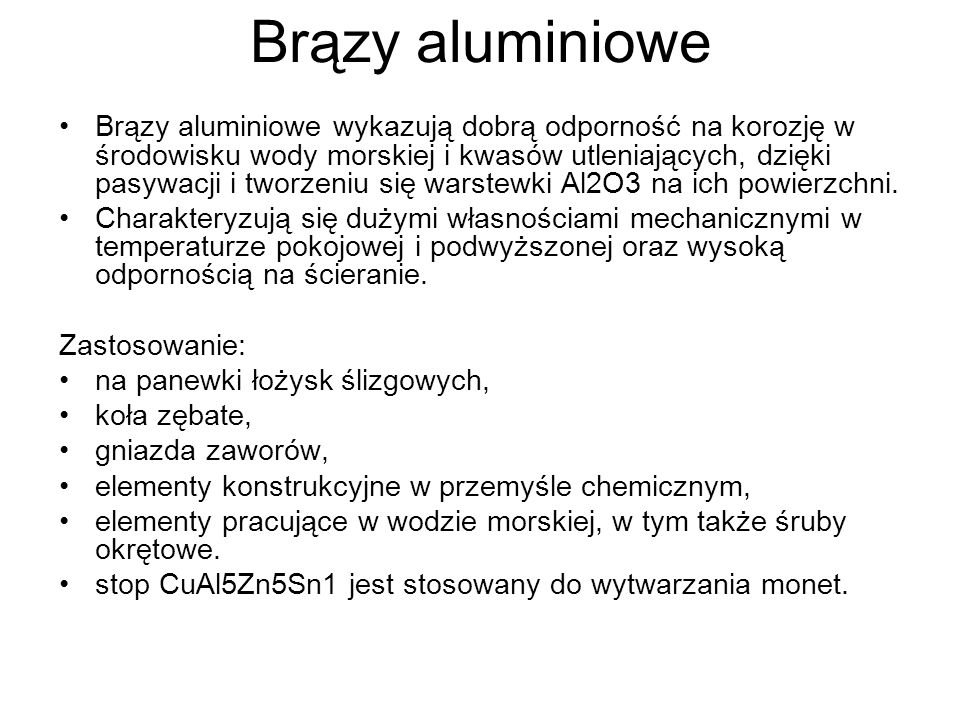 Brązy aluminiowe