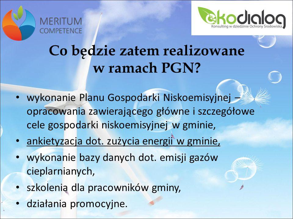Co będzie zatem realizowane w ramach PGN