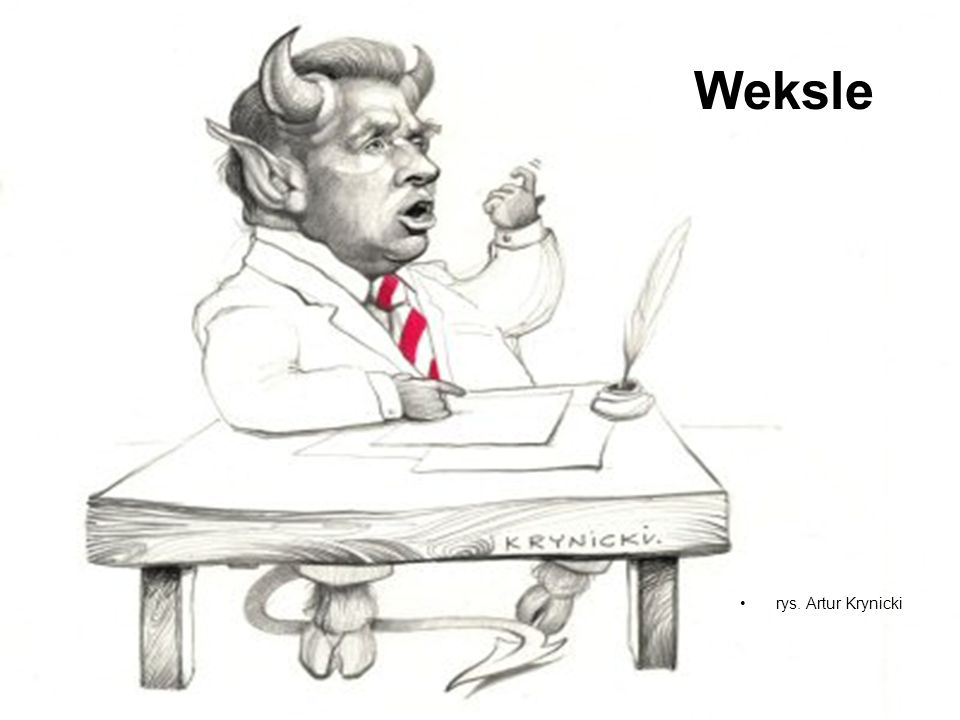 Weksle rys. Artur Krynicki