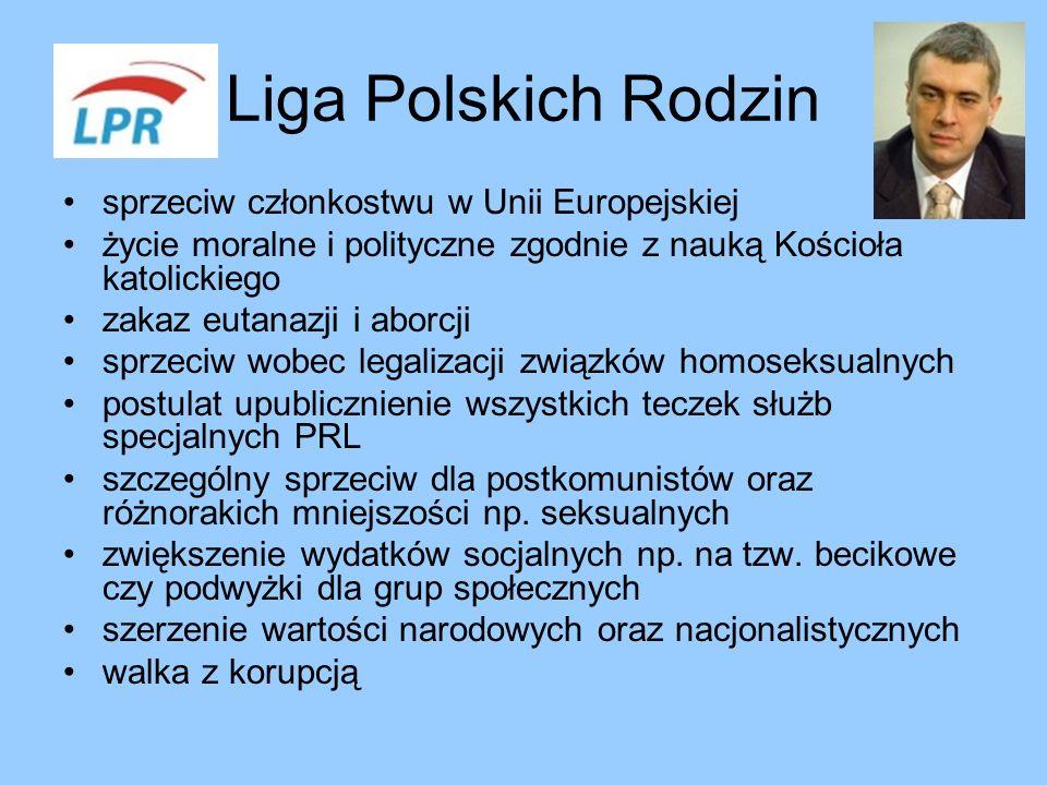 Liga Polskich Rodzin sprzeciw członkostwu w Unii Europejskiej
