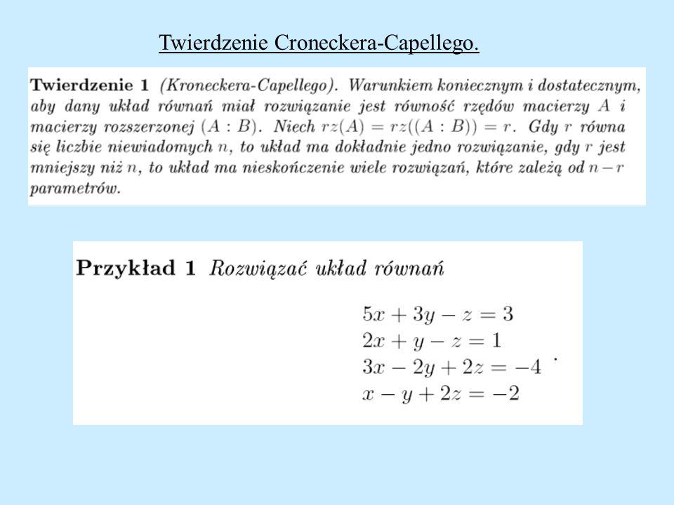 Twierdzenie Croneckera-Capellego.