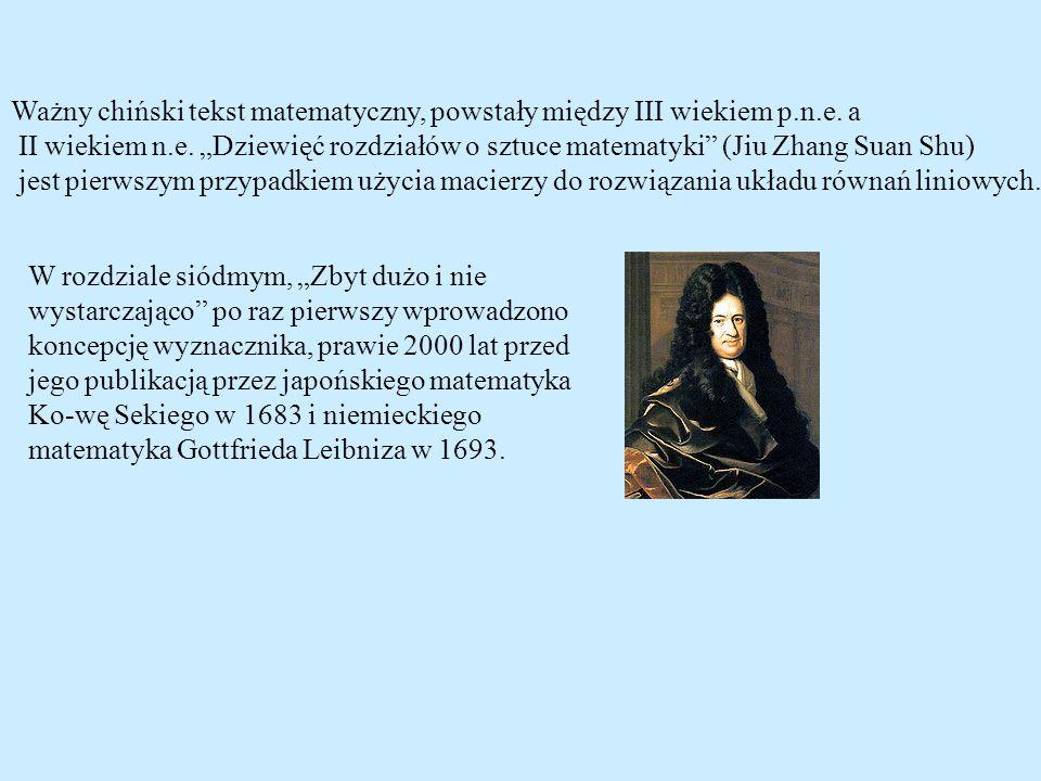 Ważny chiński tekst matematyczny, powstały między III wiekiem p.n.e. a