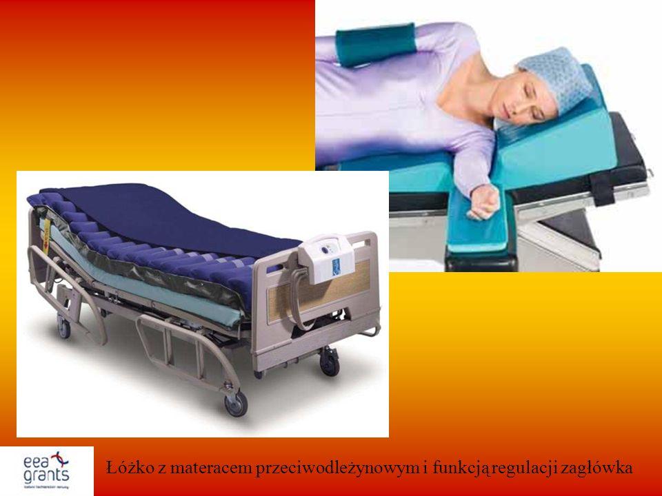 Łóżko z materacem przeciwodleżynowym i funkcją regulacji zagłówka