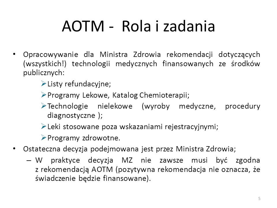 AOTM - Rola i zadania