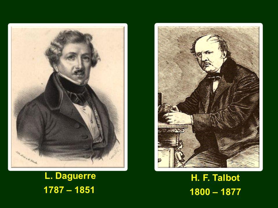 L. Daguerre 1787 – 1851 H. F. Talbot 1800 – 1877 Instytut Geografii i Gospodarki Przestrzennej