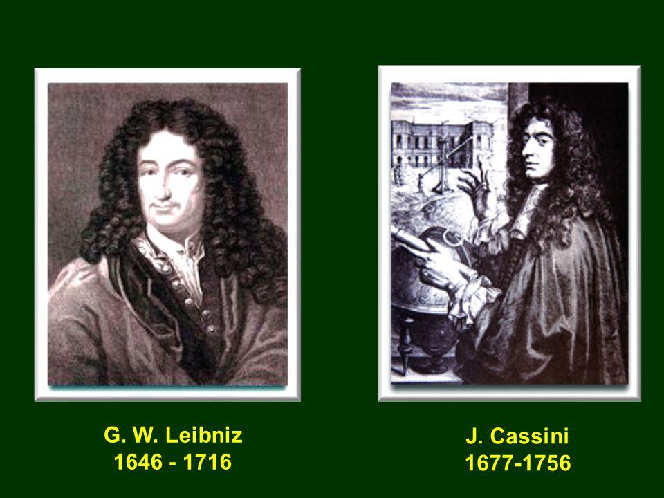 G. W. Leibniz 1646 - 1716 J. Cassini 1677-1756