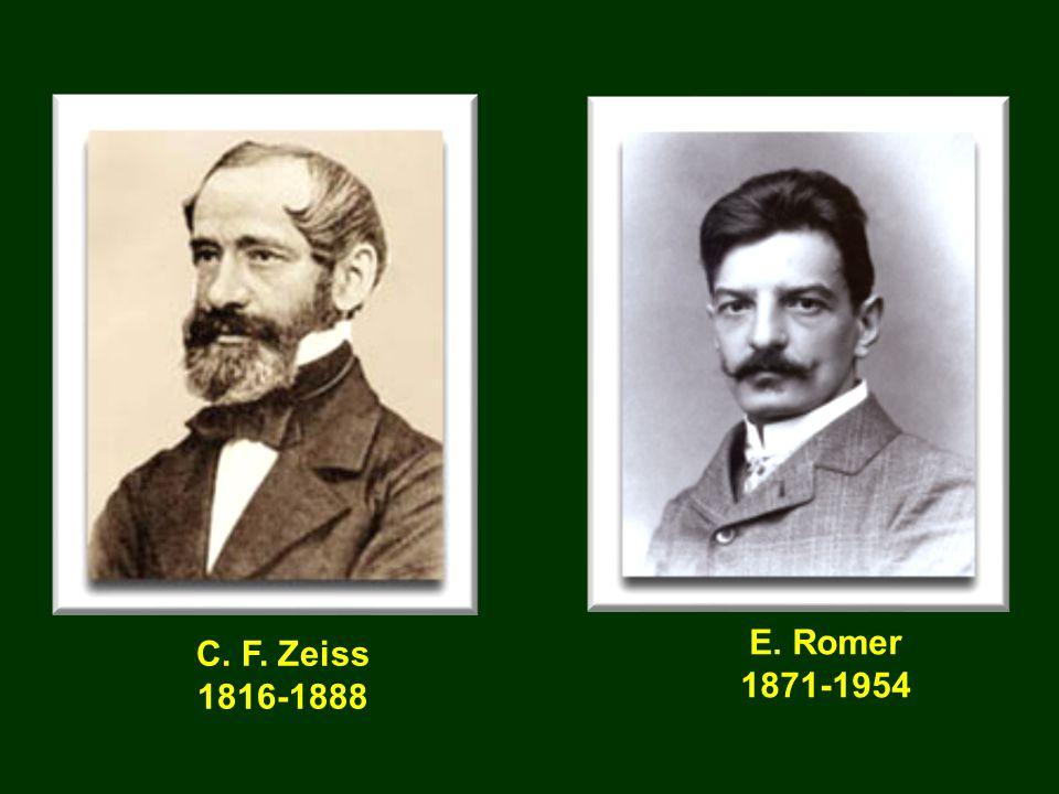 E. Romer 1871-1954 C. F. Zeiss 1816-1888