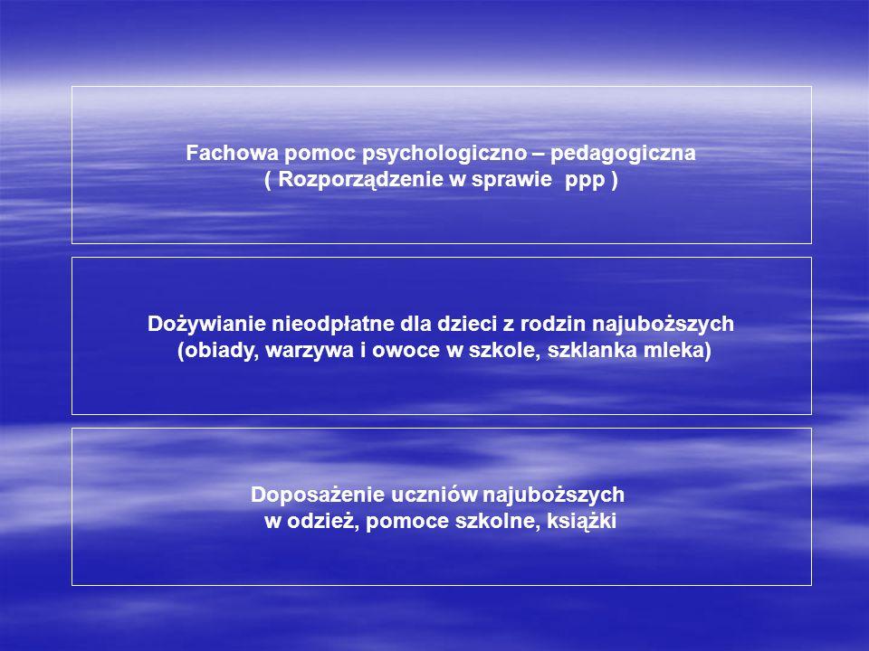 Fachowa pomoc psychologiczno – pedagogiczna
