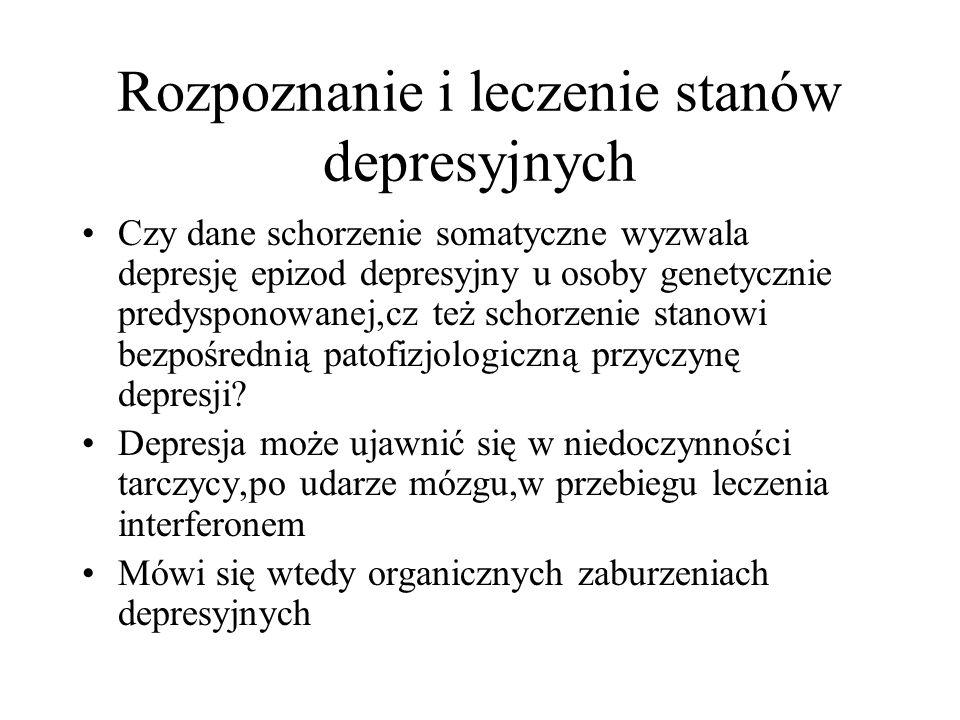 Rozpoznanie i leczenie stanów depresyjnych