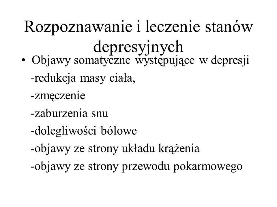 Rozpoznawanie i leczenie stanów depresyjnych