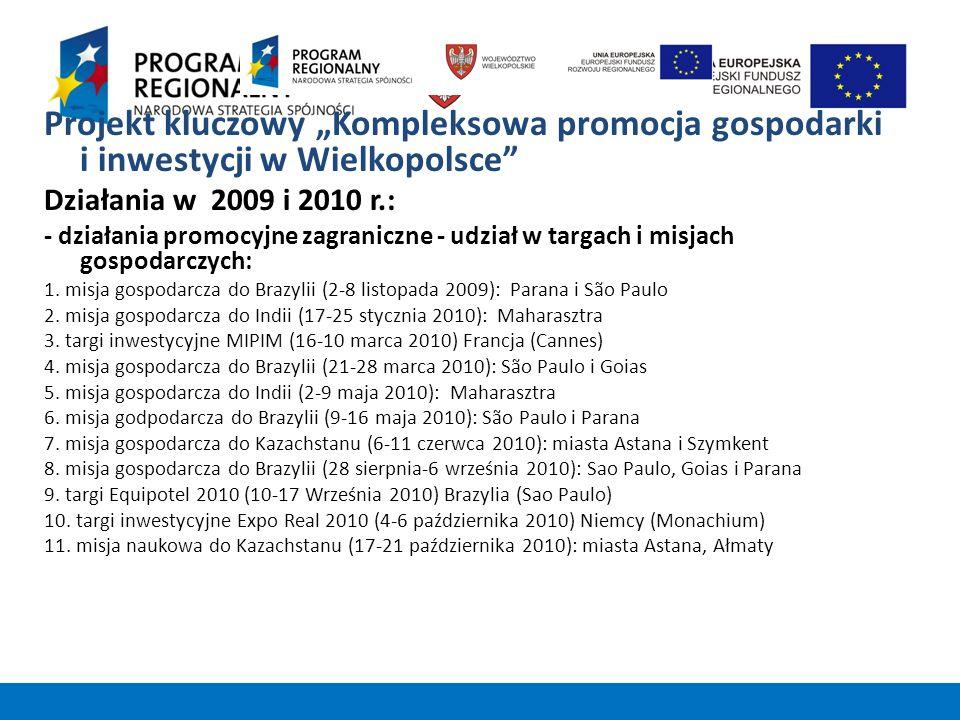 """Projekt kluczowy """"Kompleksowa promocja gospodarki i inwestycji w Wielkopolsce"""