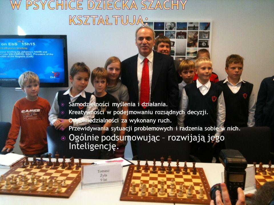 W psychice dziecka szachy kształtują: