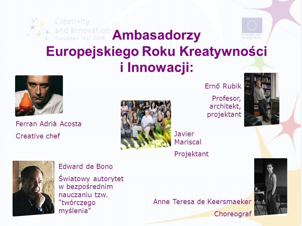 Ambasadorzy Europejskiego Roku Kreatywności i Innowacji: