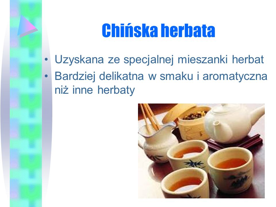 Chińska herbata Uzyskana ze specjalnej mieszanki herbat