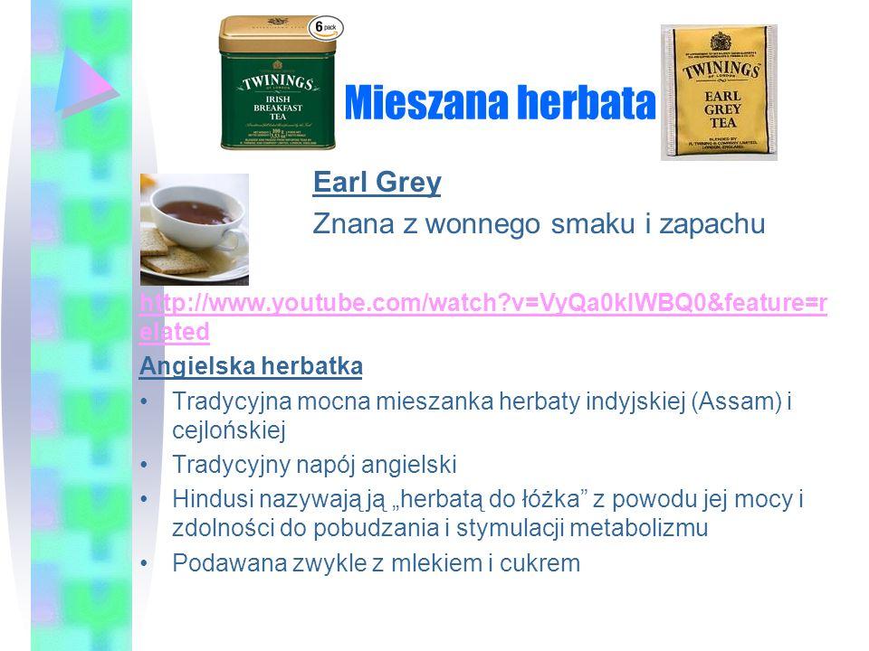 Mieszana herbata Earl Grey Znana z wonnego smaku i zapachu