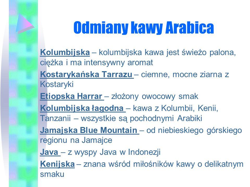Odmiany kawy Arabica