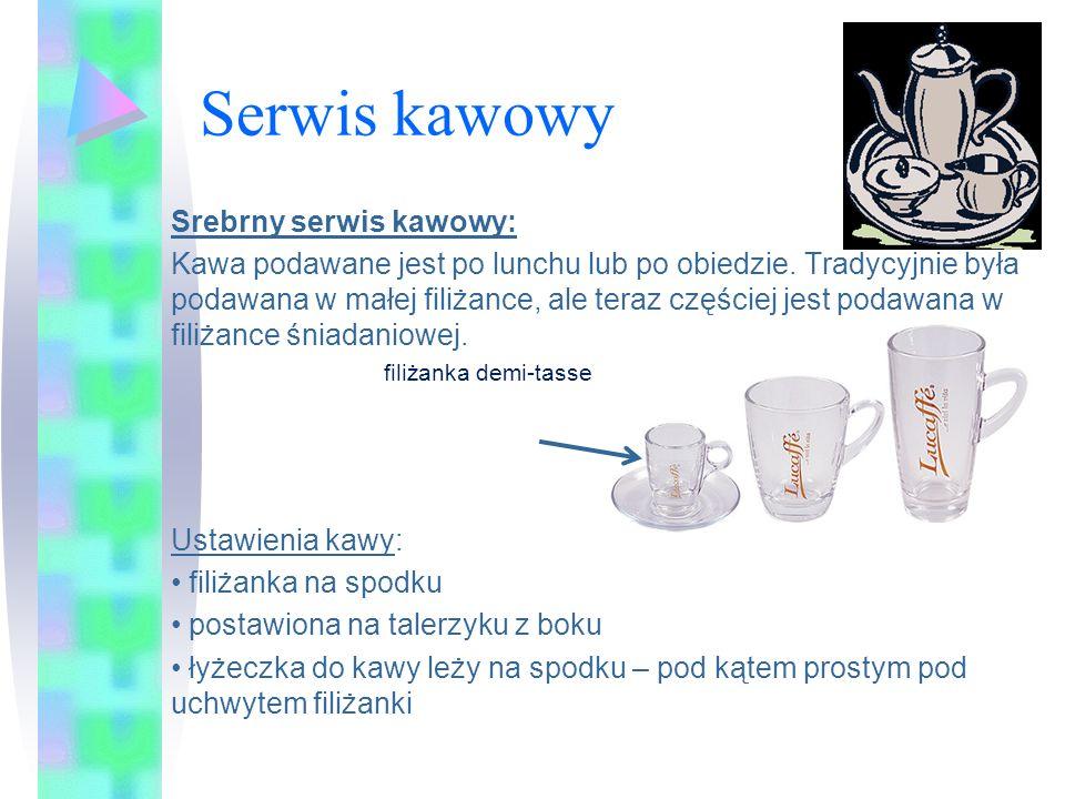 Serwis kawowy Srebrny serwis kawowy: