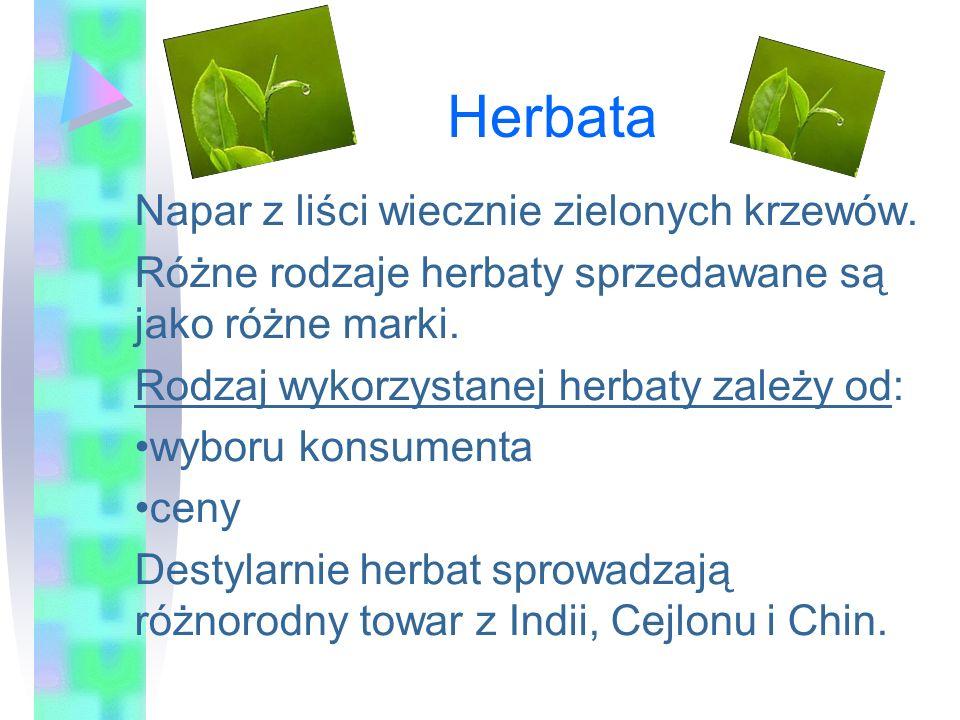 Herbata Napar z liści wiecznie zielonych krzewów.