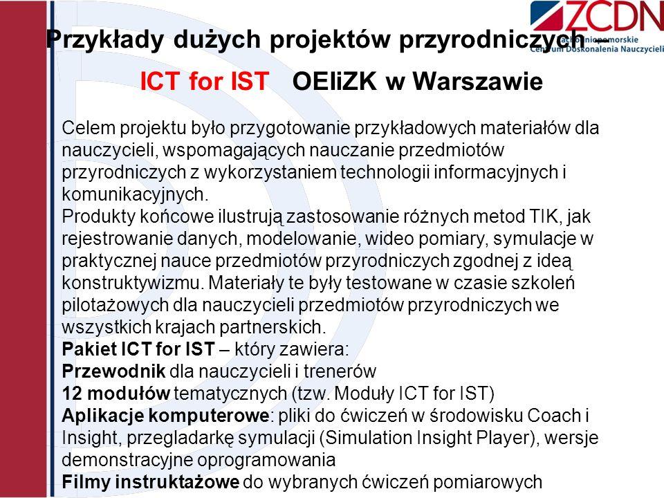 Przykłady dużych projektów przyrodniczych – ICT for IST OEIiZK w Warszawie