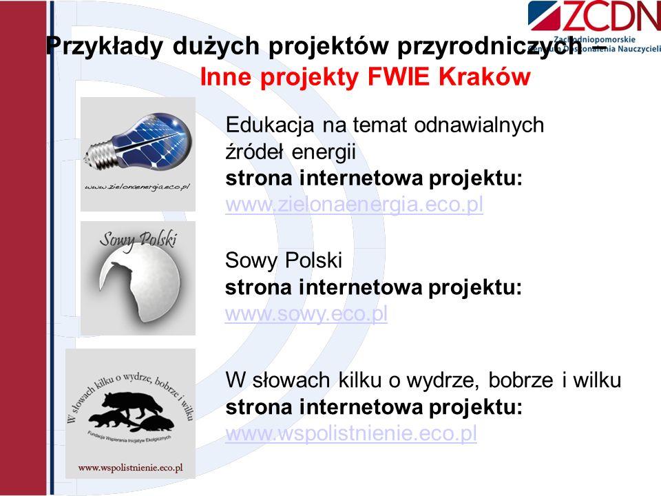Przykłady dużych projektów przyrodniczych – Inne projekty FWIE Kraków