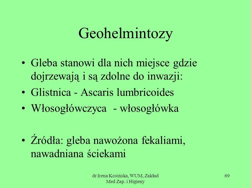 dr Irena Kosińska, WUM, Zakład Med Zap. i Higieny