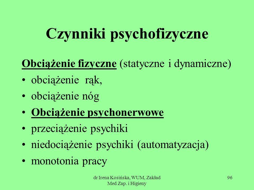 Czynniki psychofizyczne