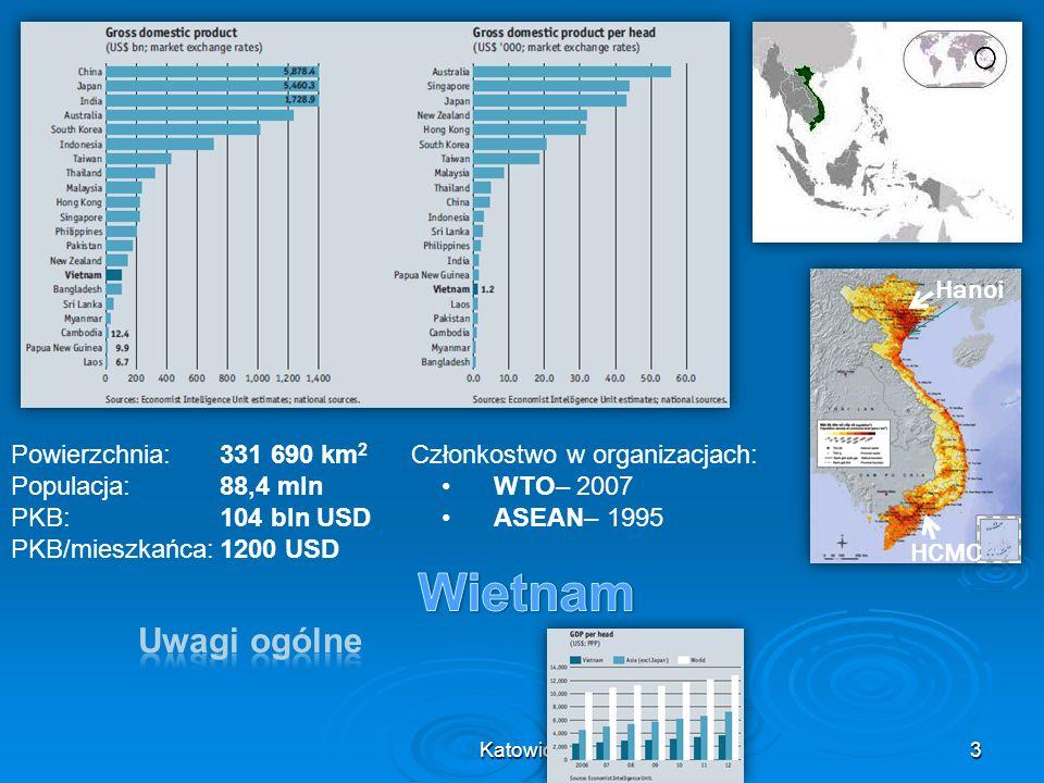 Wietnam Uwagi ogólne Hanoi Powierzchnia: 331 690 km2