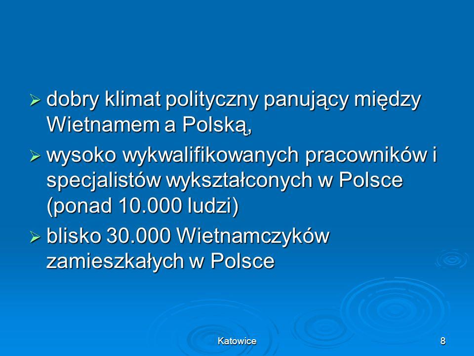 dobry klimat polityczny panujący między Wietnamem a Polską,