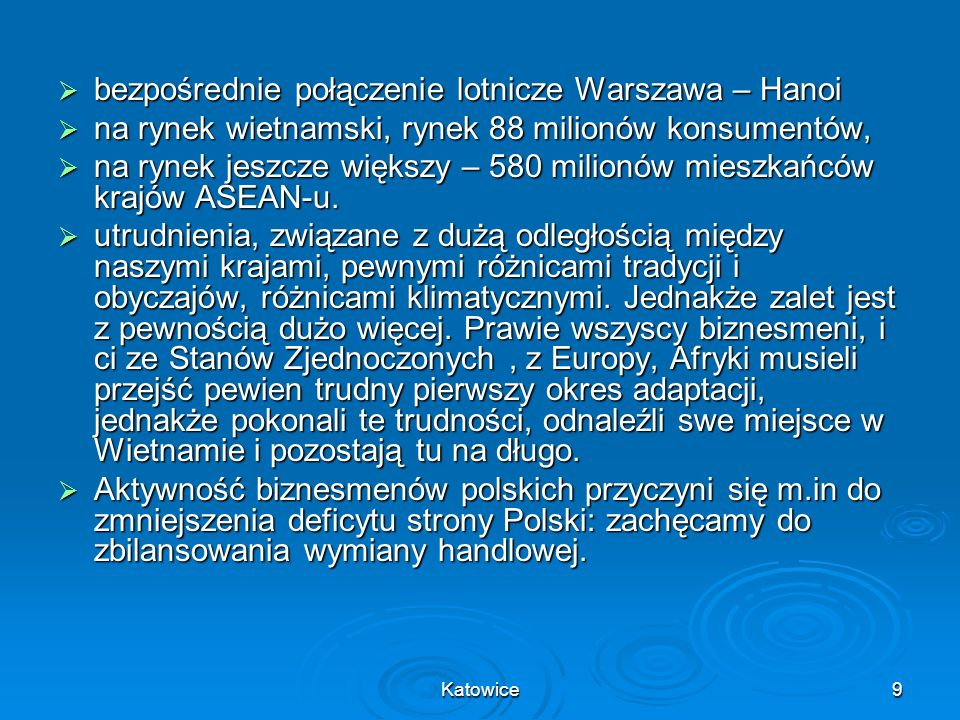 bezpośrednie połączenie lotnicze Warszawa – Hanoi
