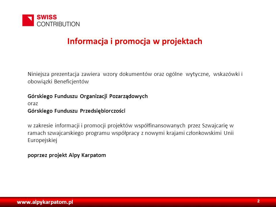 Informacja i promocja w projektach