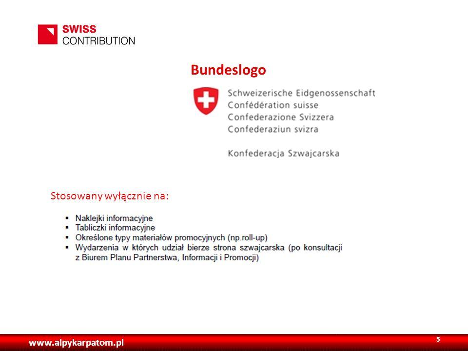 Bundeslogo Stosowany wyłącznie na: www.alpykarpatom.pl