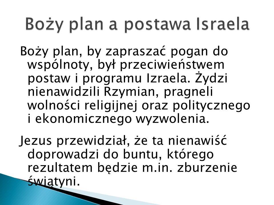 Boży plan a postawa Israela