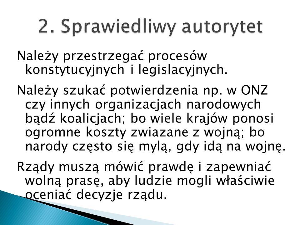 2. Sprawiedliwy autorytet