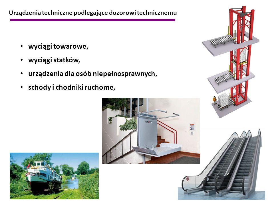 urządzenia dla osób niepełnosprawnych, schody i chodniki ruchome,