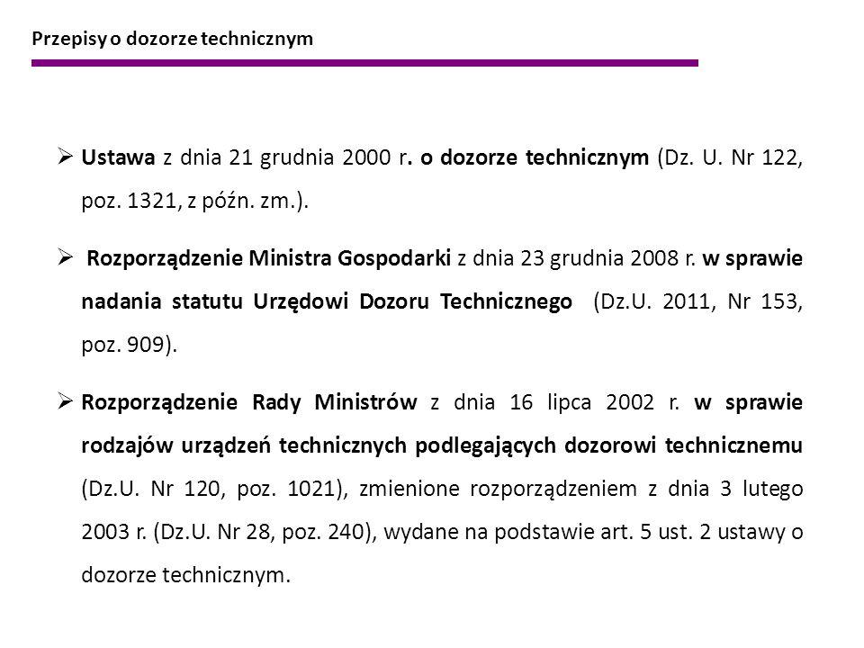 Przepisy o dozorze technicznym