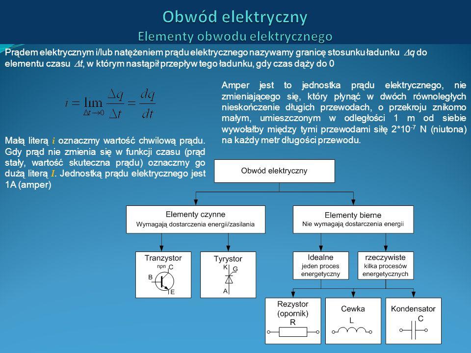 Obwód elektryczny Elementy obwodu elektrycznego