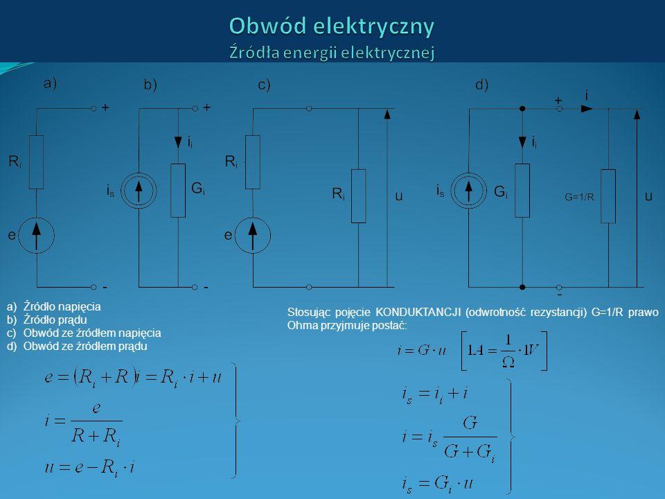 Obwód elektryczny Źródła energii elektrycznej