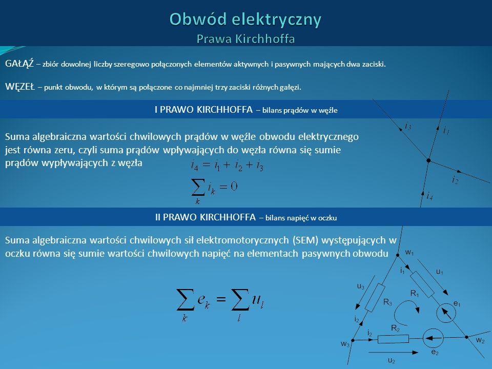 Obwód elektryczny Prawa Kirchhoffa