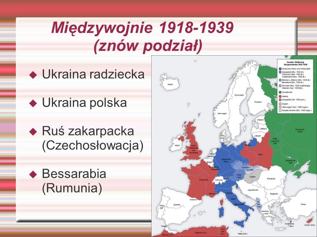 Międzywojnie 1918-1939 (znów podział)