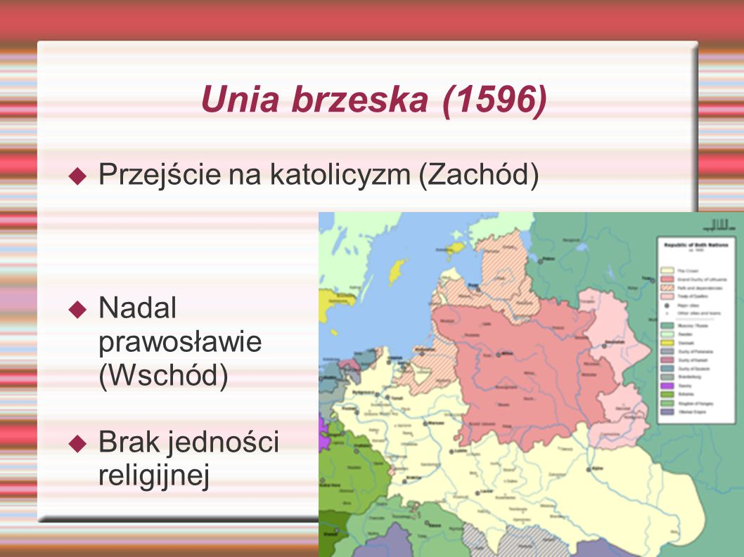 Unia brzeska (1596) Przejście na katolicyzm (Zachód)