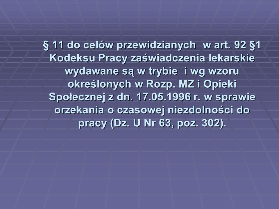 § 11 do celów przewidzianych w art