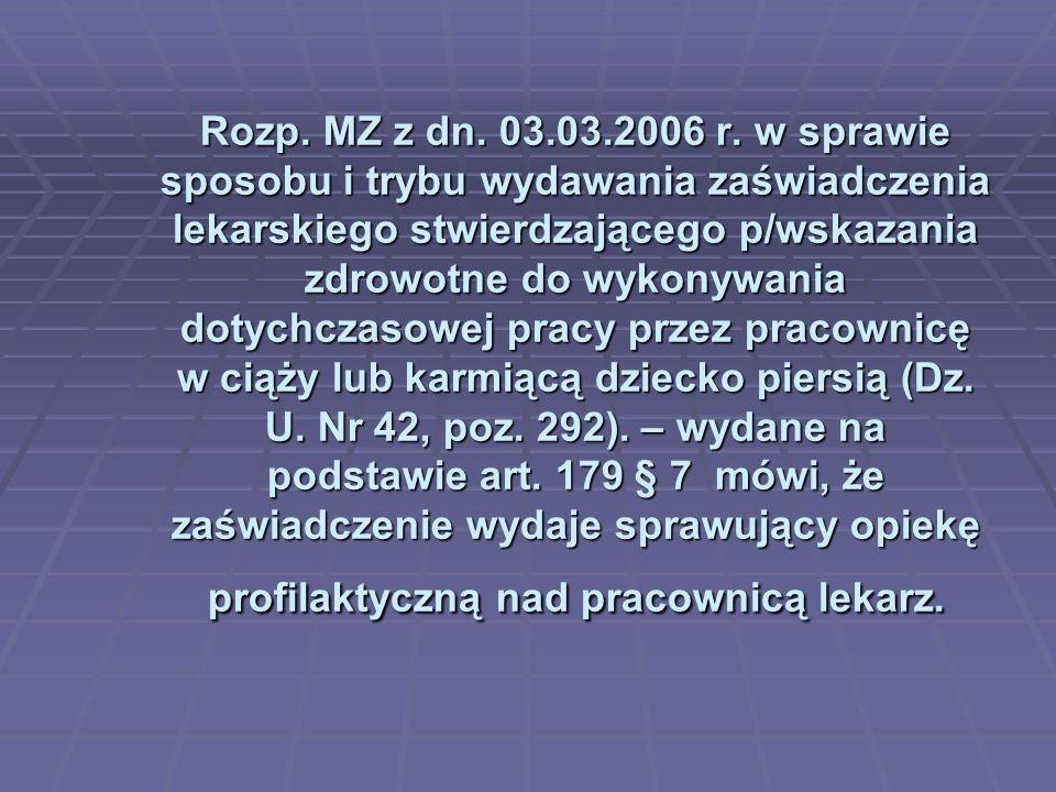 Rozp. MZ z dn. 03.03.2006 r.