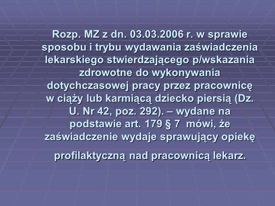 Rozp.MZ z dn. 03.03.2006 r.
