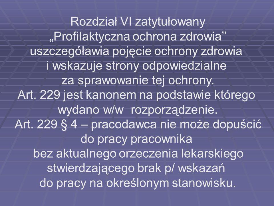 """Rozdział VI zatytułowany """"Profilaktyczna ochrona zdrowia''"""