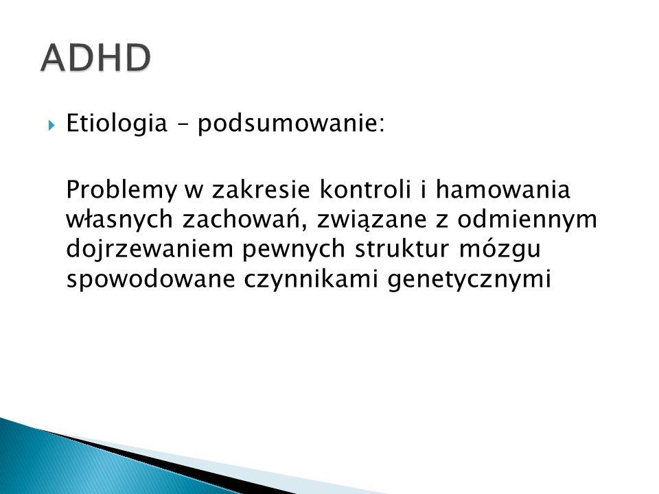 ADHD Etiologia – podsumowanie: