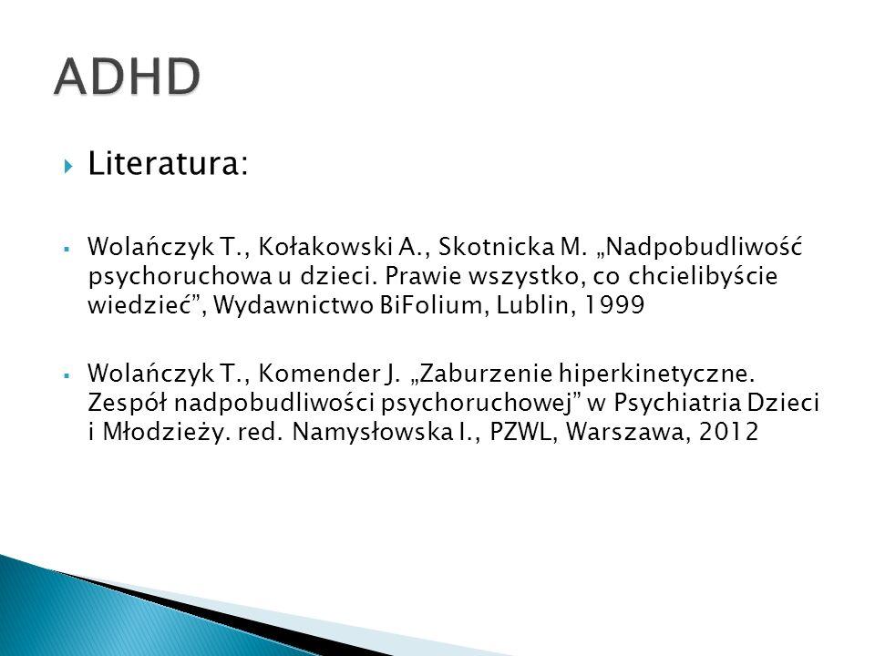 ADHD Literatura: