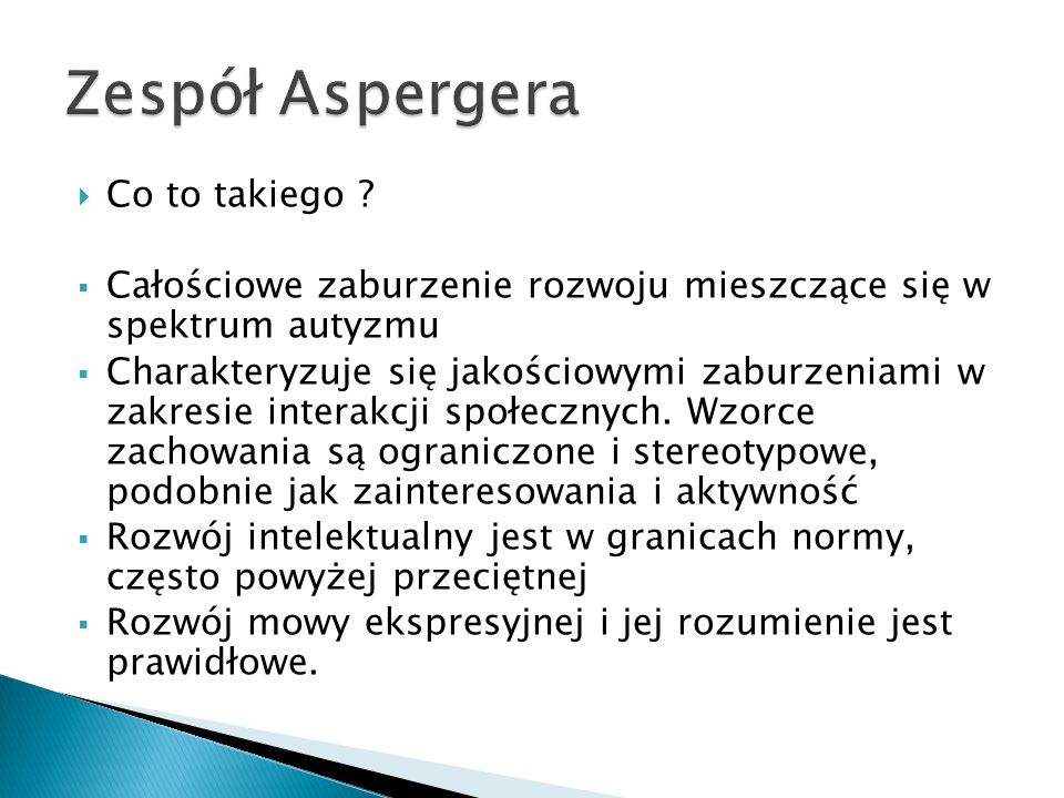 Zespół Aspergera Co to takiego