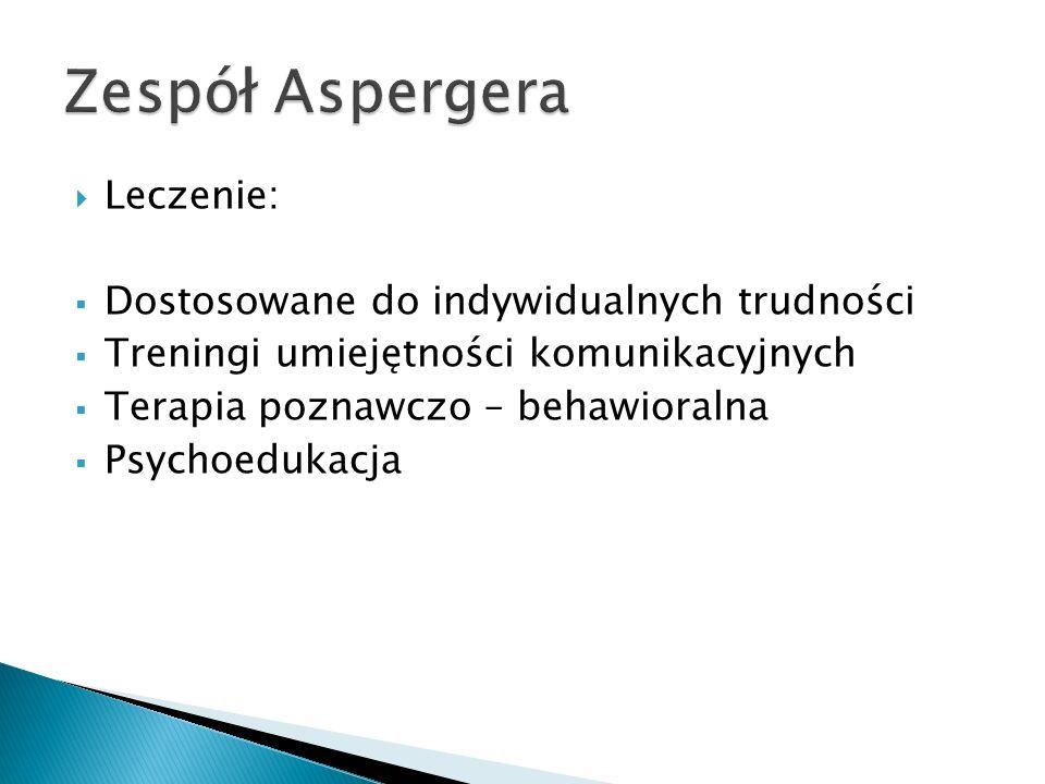 Zespół Aspergera Leczenie: Dostosowane do indywidualnych trudności